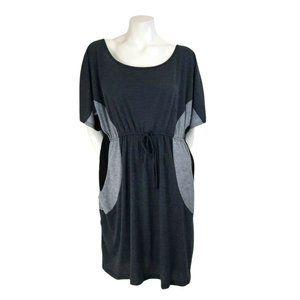 Delirious Monochrome Colorblock Dress w/ Pockets